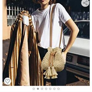 Lukatu Strawbag crossbody beach bag boho buket